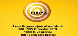 Hepsiburada.com'dan Axess 'li alışverişe 100 TL chip-para