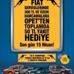 Fiat ve Opet 50 TL Hediye Akaryakit Kampanyasi