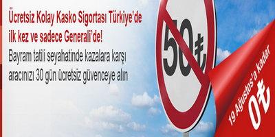 Generali ile çifte bayram fırsatı! Türkiye'deki ilk ücretsiz kaskoyu kaçırmayın!