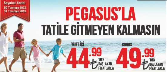 Pegasus ile Tatile 44,99 TL'den Başlayan Fiyatlarla Uçun!