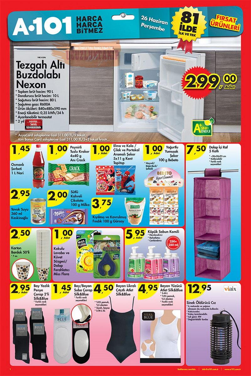 A101 Market 26 Haziran 2014 Fırsat Ürünleri