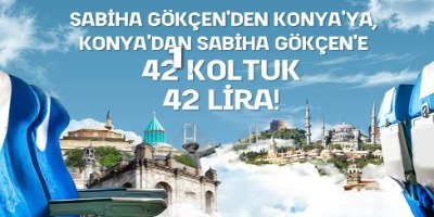 AnadoluJet ile Konya'dan İstanbul'a 42 Koltuk 42 TL