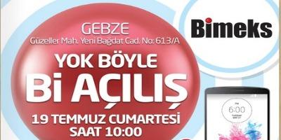 Bimeks Gebze Mağazası Açılış Kampanyası (19 Temmuz)