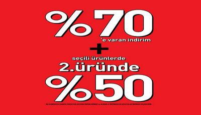Colin's'te Seçili Ürünlerde yüzde 70'e Varan + 2. Üründe yüzde 50 İndirim!