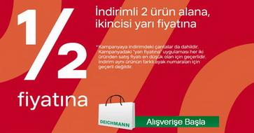 Deichmann'da İndirimli 2 ürün Alana 2'ncisi yarı fiyatına