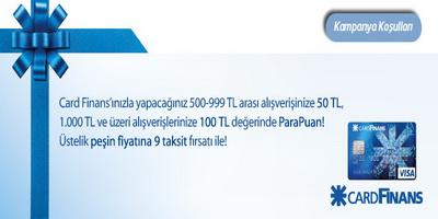 Hızlıal.com'da Cardfinans'a Özel 100 TL ParaPuan Hediye!