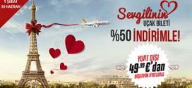 Pegasus'ta Sevgilinin Bileti %50 İndirimli!
