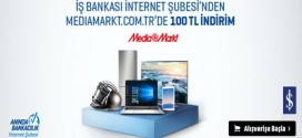İş Bankası İnternet Şubesinden Mediamarkt.com.tr'de 100 TL indirim