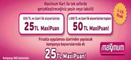 hepsiburada.com'da 50 TL maxipuan hediye