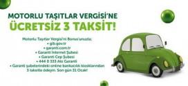 Garanti Bonus Motorlu Taşıt Vergisi Kampanyası Ocak 2016