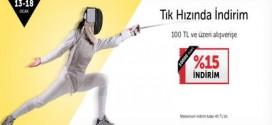 n11.com'da 100 TL üzeri %15 TIK hızında indirim (13-18 Ocak 2015)