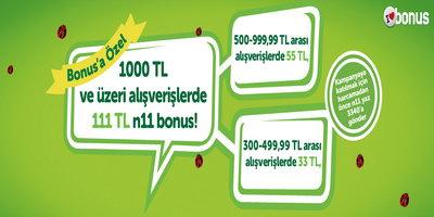 N11 Bonus Kampanyası (26 Ocak -15 Şubat)