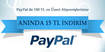 Hizlial.com'da Paypal ile Alışverişlerde 15 TL İndirim