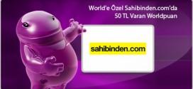 Sahibinden.com'da 50 TL Worldpuan