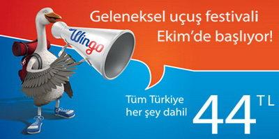 Türkiye'nin dört bir yanına 44 TL'ye uçma fırsatını yakalayın!