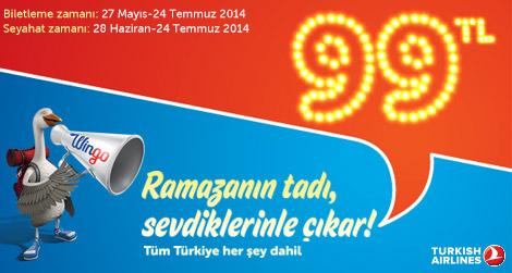 THY ile Ramazan'da herkes sevdikleriyle olsun diye tüm Türkiye 99 TL!