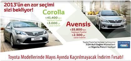 Toyota Modellerinde Mayıs Ayında Kaçırılmayacak İndirim Fırsatı!