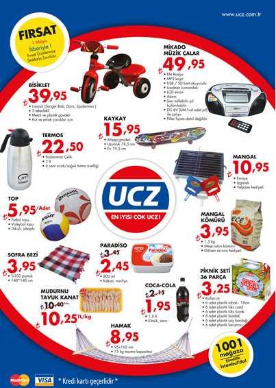 UCZ Market 1 Mayıs 2013 Fırsat Ürünleri