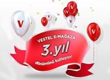 Vestel E-Mağaza, 3. Yıldönümünü %50'ye Varan İndirimlerle Kutluyor