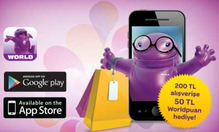 World Alışveriş Asistanı Uygulası Şubat 2015 Kampanyası